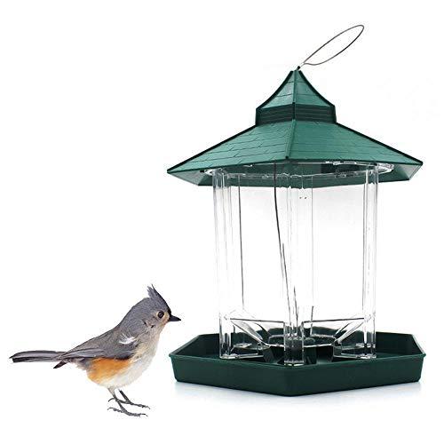 FOONEE Kolibri Feeder, Hängenden Kunststoff Wild Bird Feeder Für Garten Hof Außerhalb Dekoration & Vogelbeobachtung Für Vogelliebhaber Und Kinder - Grün