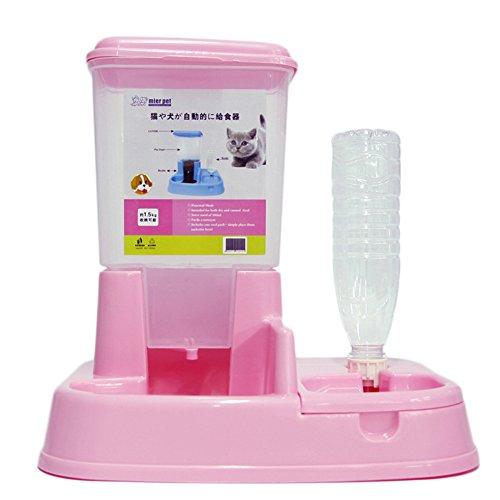 Nikgic 2 en 1 Distributeur automatique de nourritures croquettes et eaux pour chiens et chats