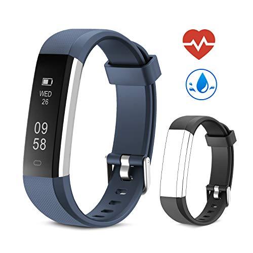 Yuanguo Pulsera de Actividad Inteligente Reloj Deportivo,Monitor de Ritmo Cardíaco, Contador de Calorías,Smartband Impermeable con Podómetro para Niño Mujer Hombre