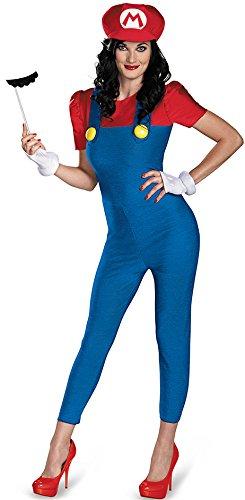 Videospiel Kostüm Mario Deluxe - KULTFAKTOR GmbH Mario Deluxe Damenkostüm Super Mario Videospiel rot-blau S