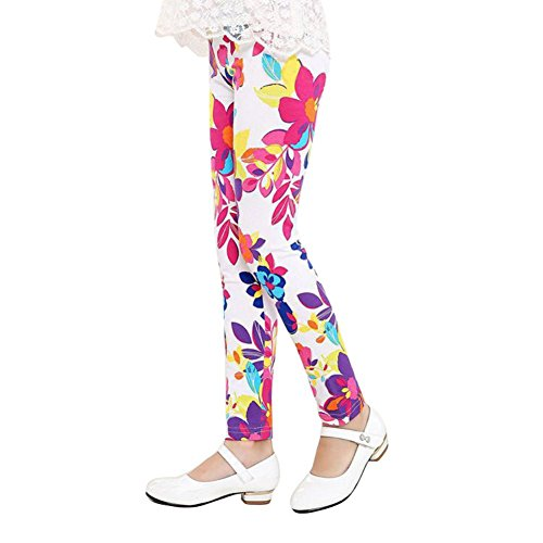 Brightup Baby Kids Girls Leggings Pants Floral Printed Trousers For 1-12 Years