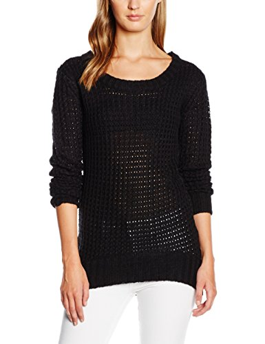 Urban Classics Ladies Long Wideneck Sweater, Felpa Donna, Nero (Black 7), S