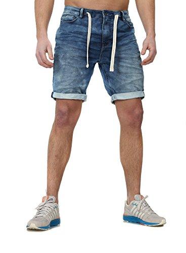 Sweat Jeans Denim Jogger Shorts Sommer Kurze Hose Sublevel 98-86 dunkelblau blau W32