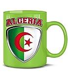 Golebros Algeria 4766 Fussball Fan Fanartikel Geburtstag Geschenk Algerien Fun Tasse Becher Kaffeetasse Kaffeebecher Grün