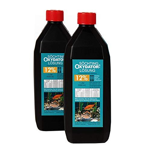2 Liter Söchting Oxydator-Lösung 12{6b8fba7abb7b3a7ed8bdeaeaf9f0665e35e3341ab43550d9236f121ae0a3c45b}, 2 x 1l Liter Nachfüllpack