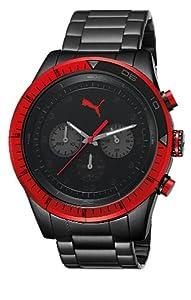 Reloj PUMA Motorsport PU102821005 de cuarzo unisex con correa de acero inoxidable, color negro de Puma