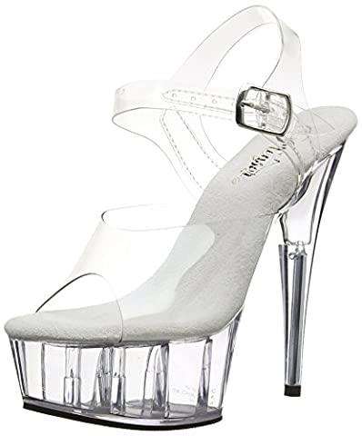 Pleaser Del608/c/m, Escarpins Femme, Transparent (clear), 36