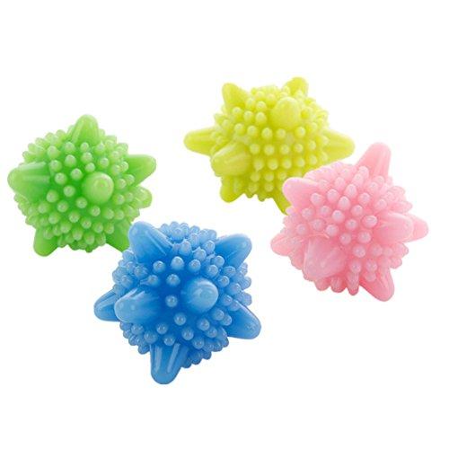 4x Toruiwa Boule de Lavage Balle à Billes Réutilisable pour Machine à laver