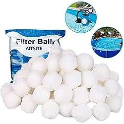 Aitsite Balles Filtrantes - Billes filtrantes 700g / 8 L Alternative pour 25 kg de sable filtrant