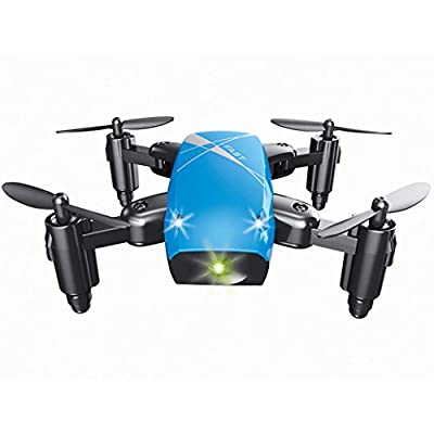 Bluester S9 6-Axis Altitude Hold 0.3MP HD Camera Foldable WIFI RC Quadcopter Pocket Drone by Bluester