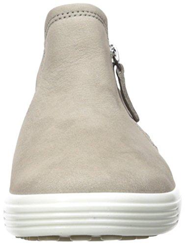 Ecco Damen Soft 7 Ladies Stiefeletten Grau (WARM Grey/Powder)