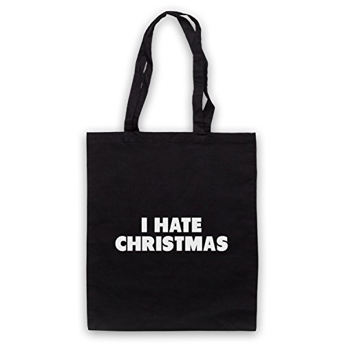 I Hate Christmas Funny Anti Xmas Slogan Umhangetaschen Schwarz