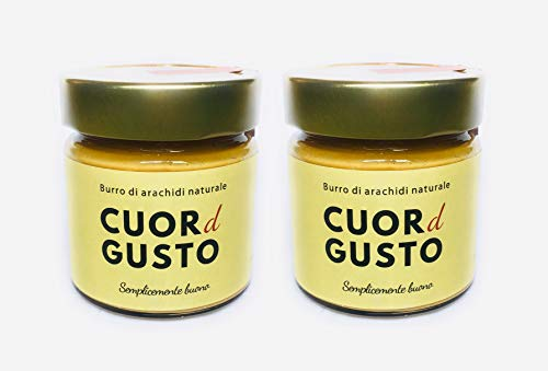 Burro di arachidi naturale prodotto in italia - 2 vasetti da 250g - cuordgusto