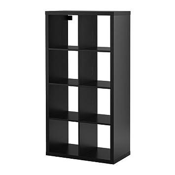 Bücherregal expedit  IKEA Regal Kallax das neue Expedit Regal 8 - Fach schwarzbraun 147 ...