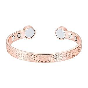 Rosian & Levine Unisex-Magnetarmband aus Kupfer mit extra starken Magneten, für Arthritis, Karpaltunnelsyndrom, Schmerzlinderung, Menopause und Hitzewallungen