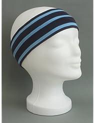 Stirnband blau - azur gestreift verschiedene Größen von Modas