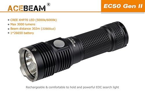 Preisvergleich Produktbild Acebeam EC50Gen II 3000Lms 5000K Akku 22800Lux Neutral White