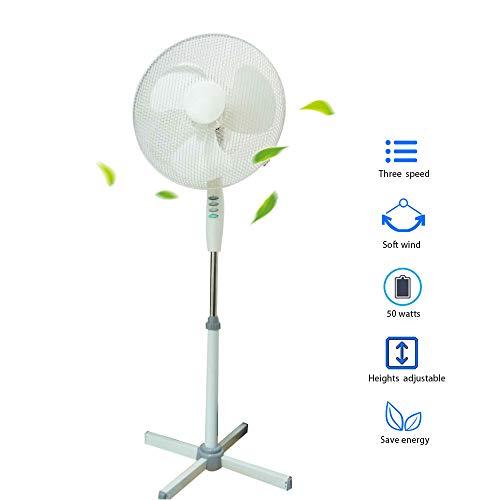 Standventilator ,Winnes Ventilator 50W Windmaschine Windgeschwindigkeit mit drei Geschwindigkeiten Turmventilator Bodenventilator Anpassung an Unterschiedliche Höhen Stand Fan - Hohe Stand-fan