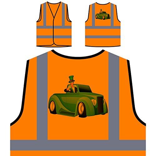 Bier irisch neuheit lucky lustig st. Patricks Tag Personalisierte High Visibility Orange Sicherheitsjacke Weste (Patricks St Weste Tag)