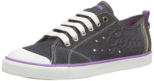 Geox JR CIAK GIRL E, Sneakers basses fille Noir (C999)