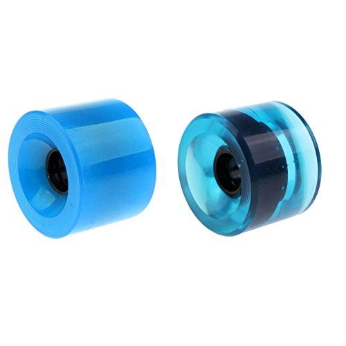 perfeclan 2x PU Skateboard Rollen Double Rocker Wheels 70x51mm Sliding Wheels Im Freien