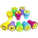 Brillante y Smiley Emoji sellos x 10