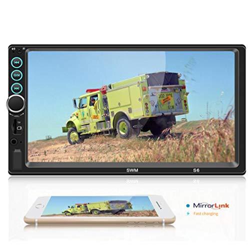 Huashao Schermo da 7 Pollici a Tre con l'auto MP5 / MP4 / Lettore MP3, Radio con Scheda Bluetooth Telefono Apple Internet
