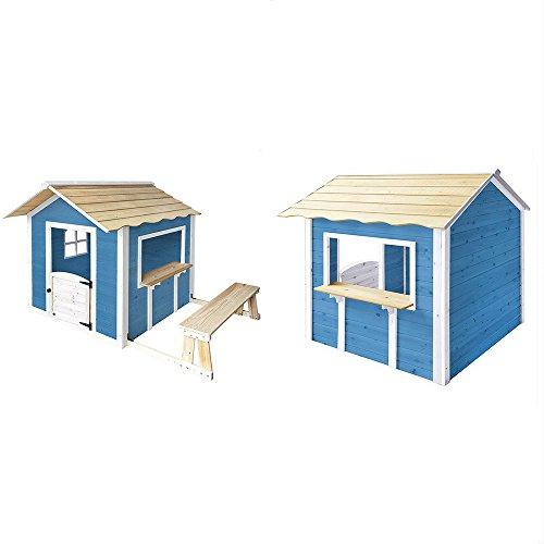 Home Deluxe - Spielhaus - Der große Palast blau - mit Bank - inkl. komplettem zubehör