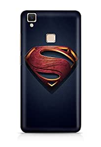 Citydreamz Superman Logo Hard Polycarbonate Designer Back Case Cover For Vivo V3 Max