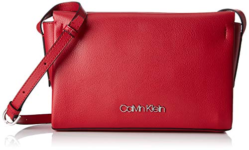 Calvin Klein Damen Avant Ew Crossbody Umhängetasche, Rot (Lipstick Red), 5x16x25 cm