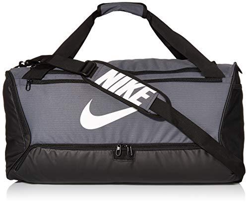Nike NK BRSLA M DUFF - 9.0 Gym Bag, Flint Grey/Black/White, 61 cm