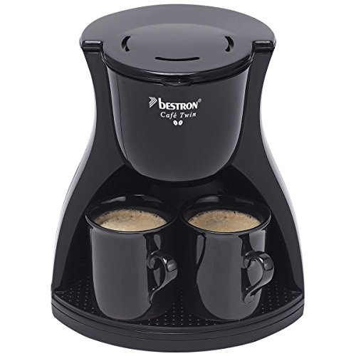 Bestron ACM8007BE - Cafetera de dos tazas