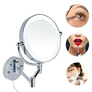 LED Beleuchtet wunderschöne Kosmetikspiegel Infrarot-Sensor (3cm extra dick) hochwertig (5Fach), JL58-5