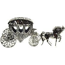 Hochzeit Mini Kutsche zum Öffnen und Befüllen Geldgeschenk Figur Feier