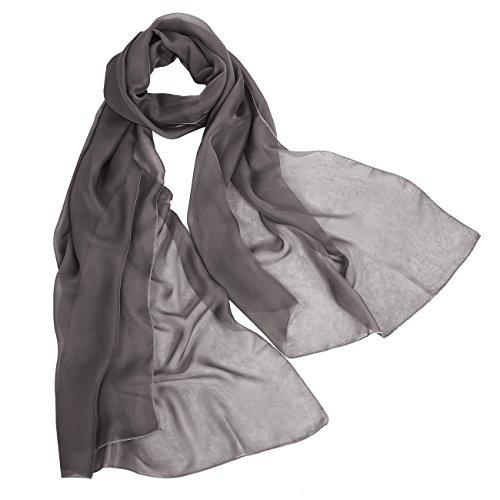 bbonlinedress Schal Chiffon Stola Scarves in verschiedenen Farben Brown 190cmX70cm