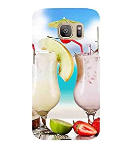 Drinks, White, Cartoon and Animation, Lovely Pattern, Printed Designer Back Case Cover for Samsung Galaxy S7 :: Samsung Galaxy S7 Duos :: Samsung Galaxy S7 G930F G930 G930Fd