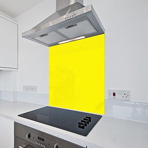 Giallo brillante da cucina in vetro Splashback by COLOUR2GLASS – 6 ...