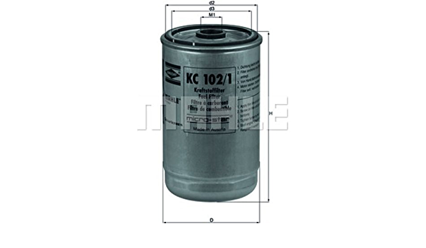 Mahle Knecht Kc 102 1 Kraftstofffilter Auto