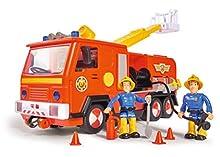 Simba- Feuerwehrmann Pompiere Sam Jupiter 2.0 con 2 Personaggi, Multicolore, 0, 109251036
