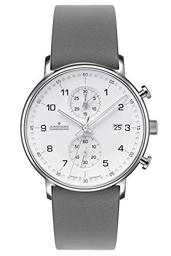 Junghans Herren-Armbanduhr Chronoscope Form C 041/477-Grau
