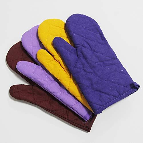 Verbrühungssichere Handschuhe plus Baumwollisolierung Rutschfester Hochtemperaturbackofen Startseite Verbrühschutzhandschuhe (Color : Yellow, Size : L-Five pieces)