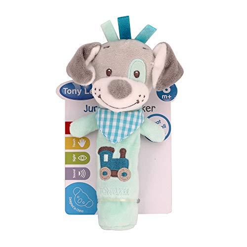 (NiceButy Baby Rassel Spielzeug, Zeichnung, niedlich, Tiermotiv, weich, Erziehungseffekt, Spielzeug für Babys, Blau)