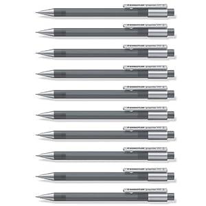 Staedtler Graphite – Portaminas de 0.5 mm, color gris, paquete de 10 piezas
