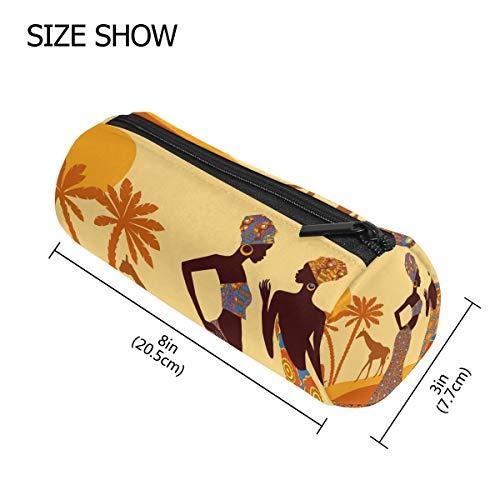 TIZORAX - Estuche para lápices de elefantes tropicales de mujer africana, bolso...