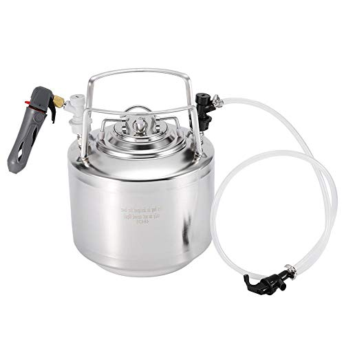 Bierfass System Dispenser Kit, Edelstahl Druck tragbare Mini Bierbrau Keg Craft Weinherstellung Kit für Bier Wasser Soda Kaffee Entwurf Homebrew Lagerung Dispensing(6L)