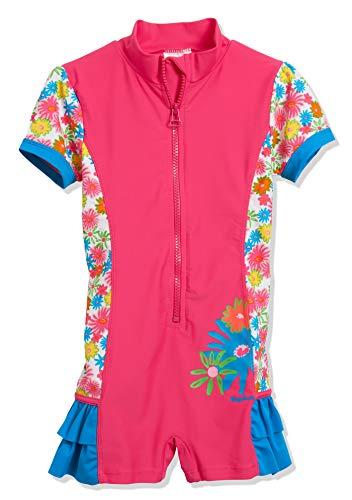 Playshoes Mädchen Blumenmeer mit UV-Schutz Einteiler, Mehrfarbig (Pink 18), 86 (Herstellergröße: 86/92)