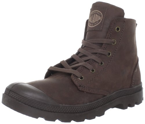Palladium PAMPA HI LEATHER~BLACK~M 02355-255-M, Scarpe basse, Uomo, Marrone (Braun/Chocolate), 45