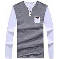 QHGstore Uomo Casual Camicie T-shirt in cotone