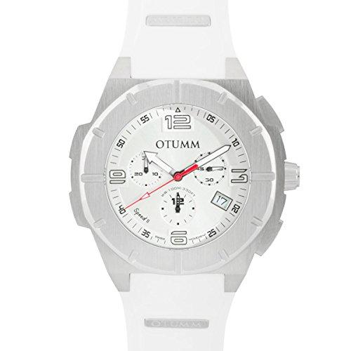 Otumm Speed II Edelstahl 003 Weib 45mm Unisex Speed Uhr
