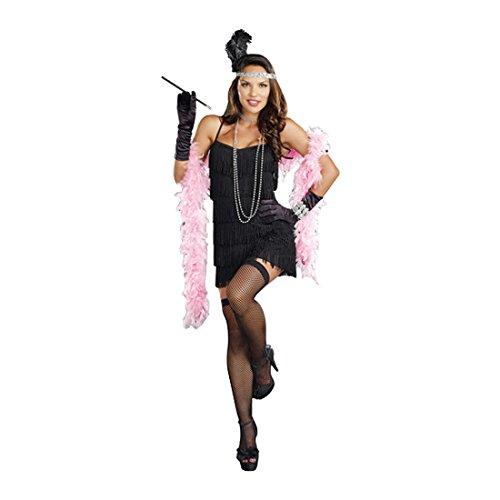 per Kostüm Kleid, Small (Mädchen Schwarz Flapper Kostüme)